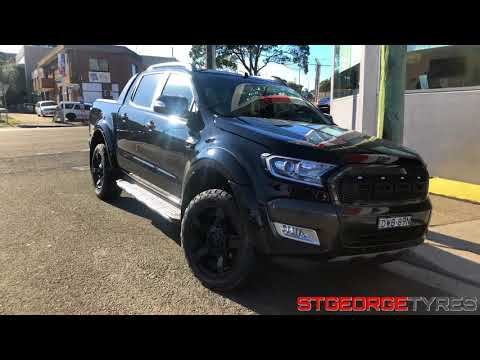 KMC XD XD811 Rockstar 2 RS2 Black Ford Ranger Unboxing with Nitto Terra Grappler tyres