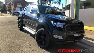 Gambar cover KMC XD XD811 Rockstar 2 RS2 Black Ford Ranger Unboxing with Nitto Terra Grappler tyres