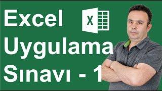 Excel Uygulama Sınavı 1. Soru - 288.video   Ömer BAĞCI