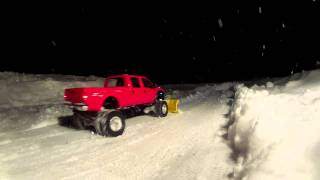 Ford F350 Dually Snow Plow Jan 2013 - Scale Tamiya RC4WD