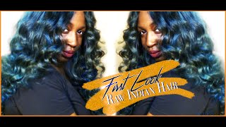 First Look : Raw Indian Hair + Coloring!!