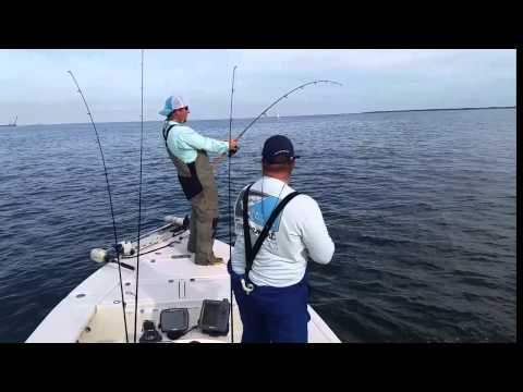 Big red fish in pensacola bay youtube for Pensacola bay fishing