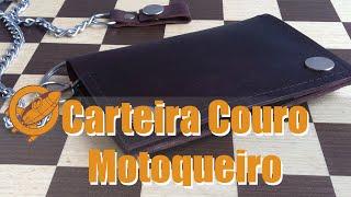 Economize fazendo sua carteira em Couro estilo Motoqueiro - leather wallet making