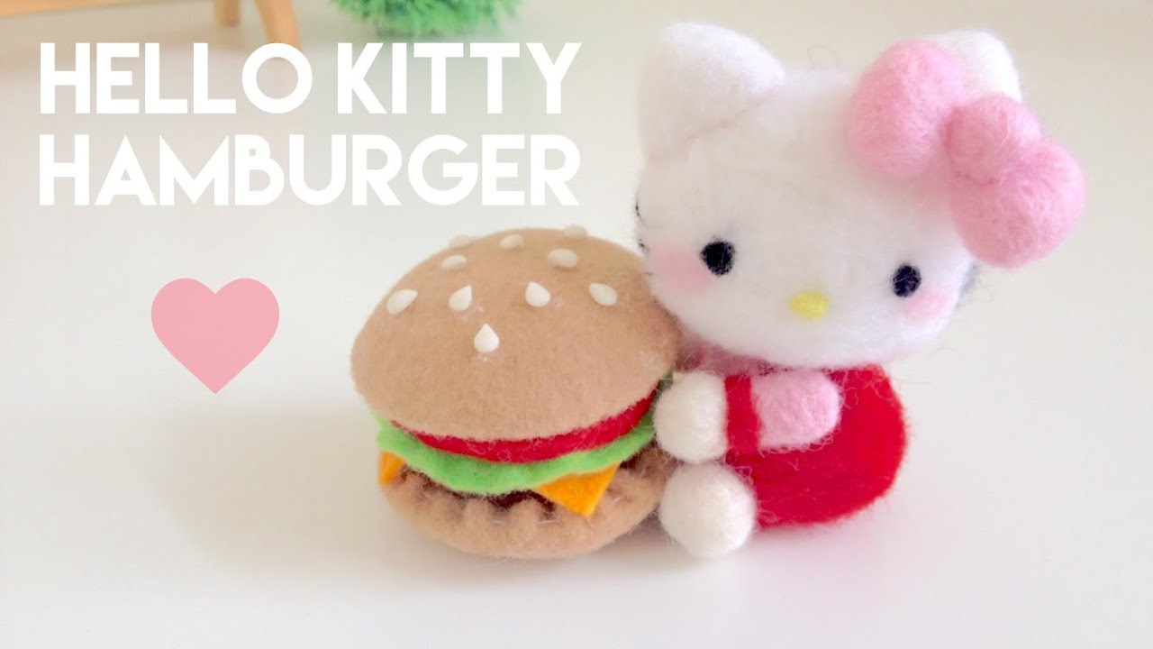 d6e8dce36 DIY Hello Kitty & Burger Plush Needle Felt Tutorial - YouTube