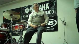 John Riley explain freestrokes(Joe Morello method) and deals