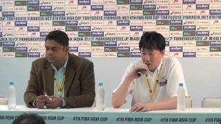 【第4回FIBA ASIAカップ】 準々決勝 JPN vs CHN試合終了後  記者会見