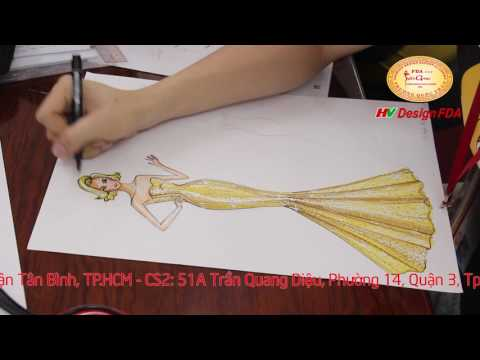 Vẽ Minh Họa Thiết Kế Thời Trang - Fashion illustration