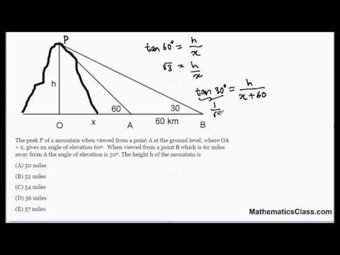 Trigonometry find the height of a mountain for How to buy a mountain