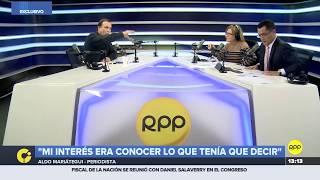 Aldo Mariátegui respondió sobre reunión con el juez César Hinostroza