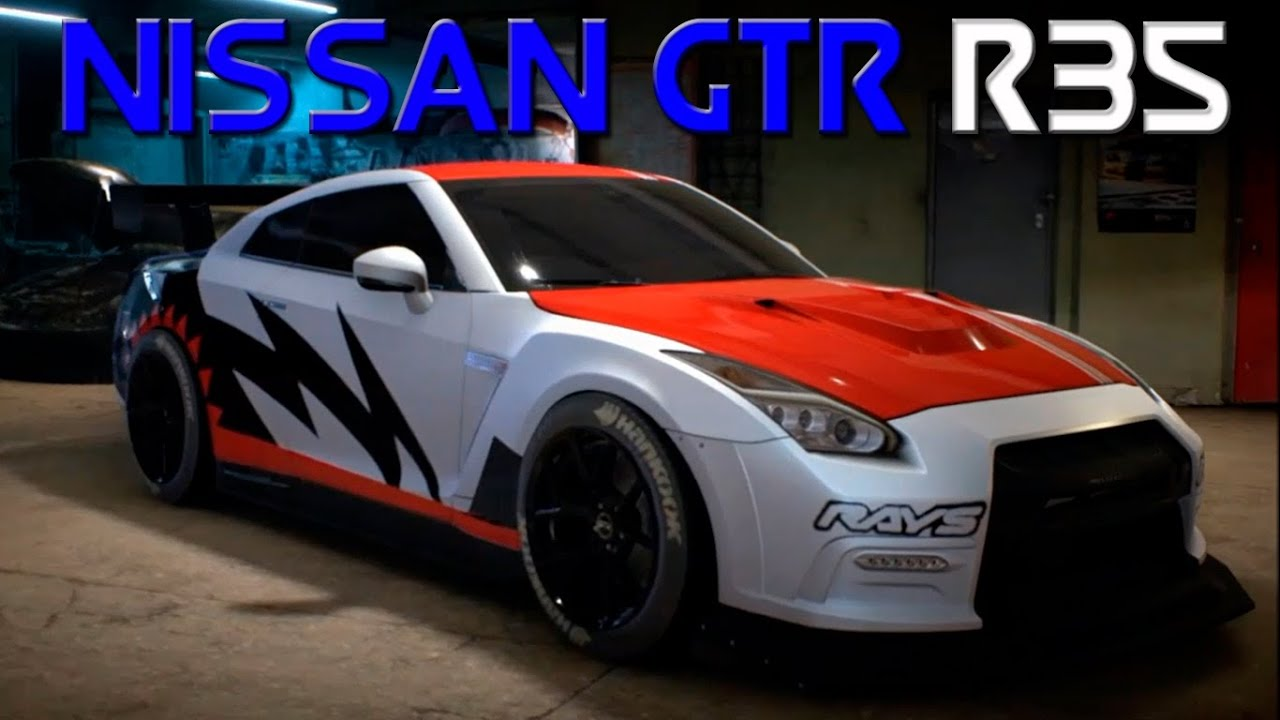 Super Need for Speed 2015 - Nissan GTR R35 Customization and Custom Wrap  UI63
