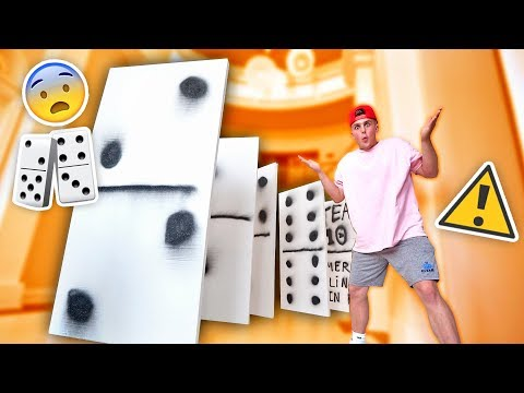 Thumbnail: WORLDS BIGGEST GAME OF DOMINOES **INSANE FALLING**