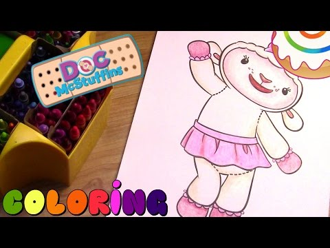 Doc McStuffins Coloring page - Lambie