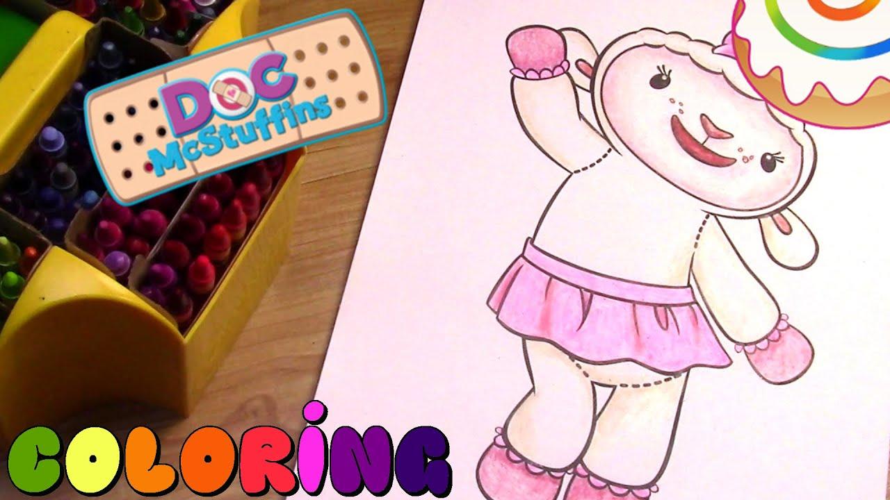 doc mcstuffins coloring page lambie youtube