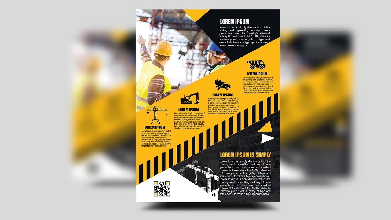 How to create a professional Construction Flyer | Photoshop Tutorials