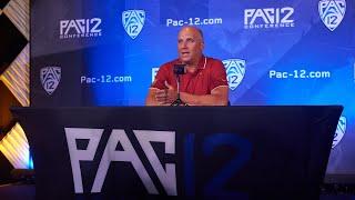 2021 Pac-12 Football Media Day: USC's head coach Clay Helton podium session