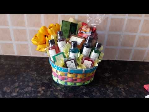 DIY care Gift Basket using Khadi Pure Herbal Products for Festive Gifts