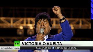Evo Morales se proclama ganador, pero no se descarta segunda vuelta