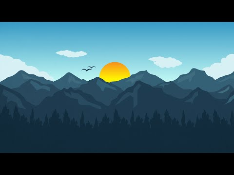 Adobe Illustrator CC Tutorial - How to design Flat landscape Wallpaper