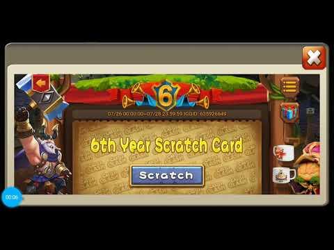 6th Year Cc Scratch Card Castle Clash