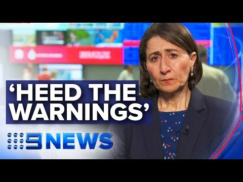 NSW Premier updates on state's catastrophic fire danger | Nine News Australia
