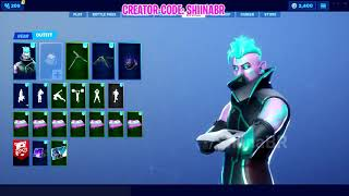 "Fortnite - Leaked ""Vector"" outfit w/ - ""Wild Tangent"" Pickaxe - ""Ion"" Glider [Total Control Set]"