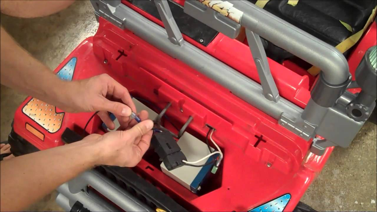 HowTo Power Wheels 12V to 24V Conversion YouTube