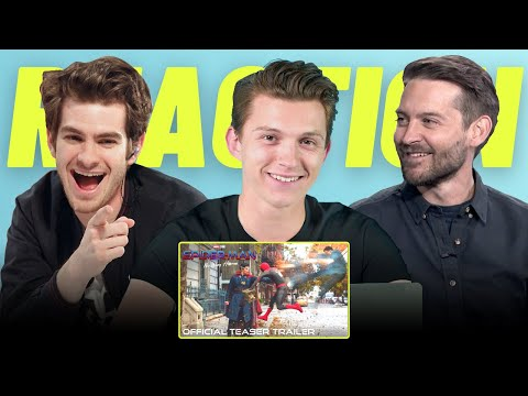 Tom Holland, Andrew Garfield & Tobey Maguire REACTS To SPIDER-MAN: NO WAY HOME (2021) Teaser Trailer