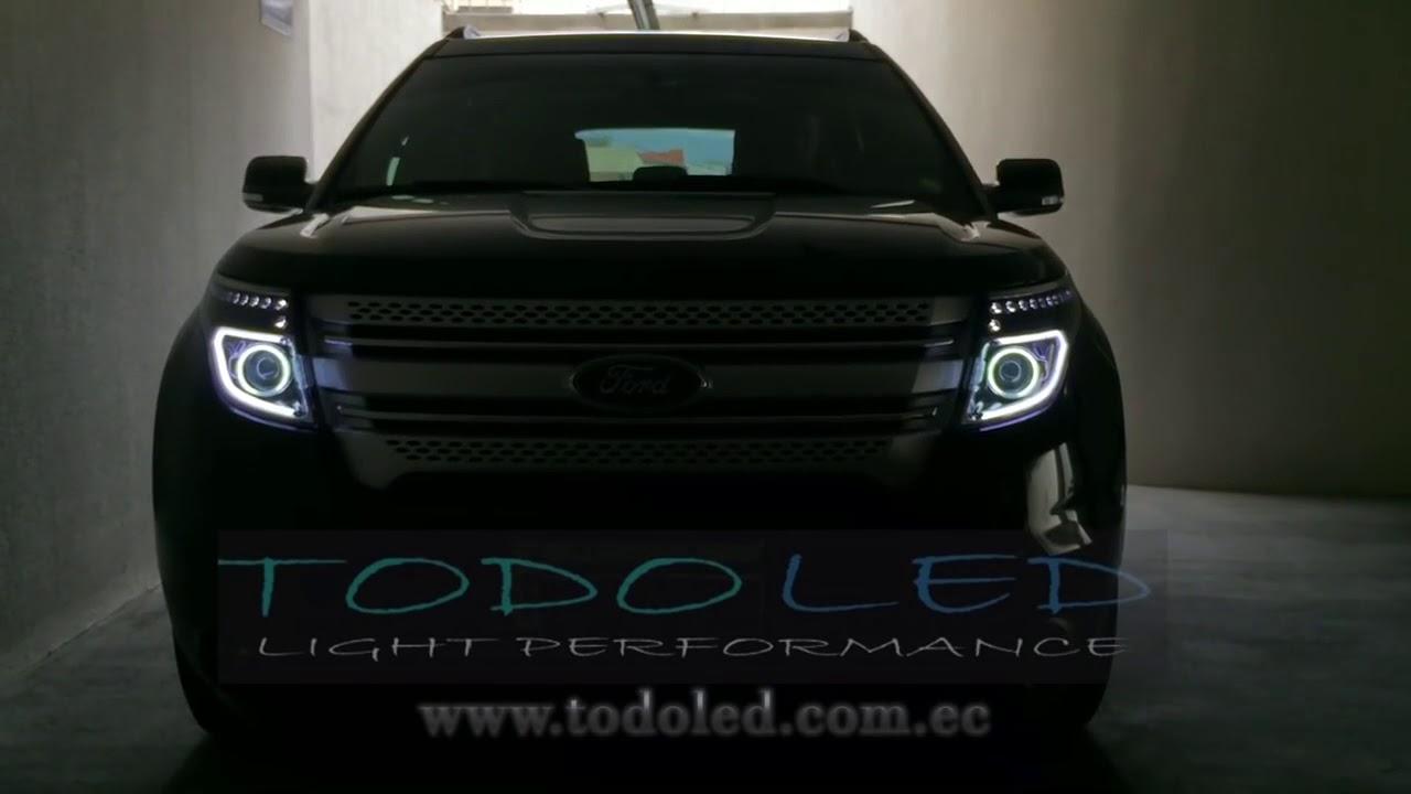 headlights ford explorer  youtube