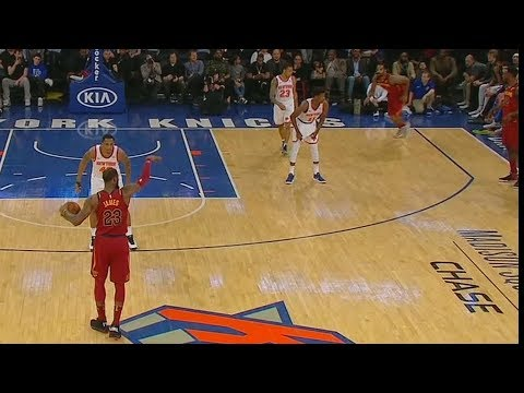 LeBron James Fools The Entire Knicks Team with Pass to Jordan Clarkson (VIDEO)
