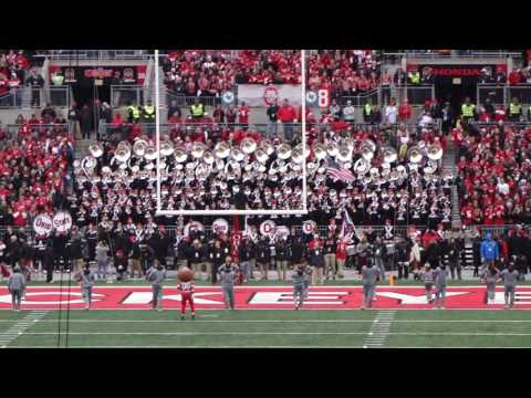 Hang On Sloopy 3rd Quarter Ohio State Marching Band 11 26 2016 OSU vs MI
