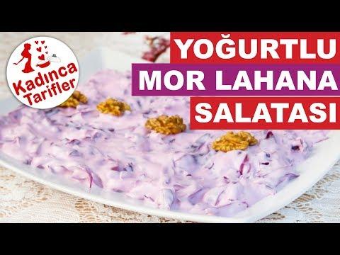 Yoğurtlu Mor Lahana Salatası Tarifi | Yoğurtlu Salata Nasıl Yapılır | Kadınca Tarifler