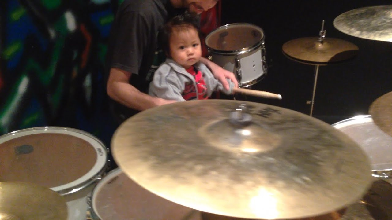 This Baby Drummer Is Not So Happy