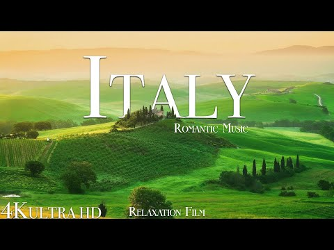 Italy 4K • Beautiful Scenery & Sad Piano, Europe Relaxing Music • Relaxation Film