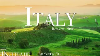 Italy 4K • Beautiful Scenery & Sad Piano, Relaxing Music • Relaxation Film