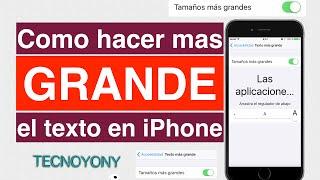 Cómo hacer el texto más grande en el iPhone, iPad