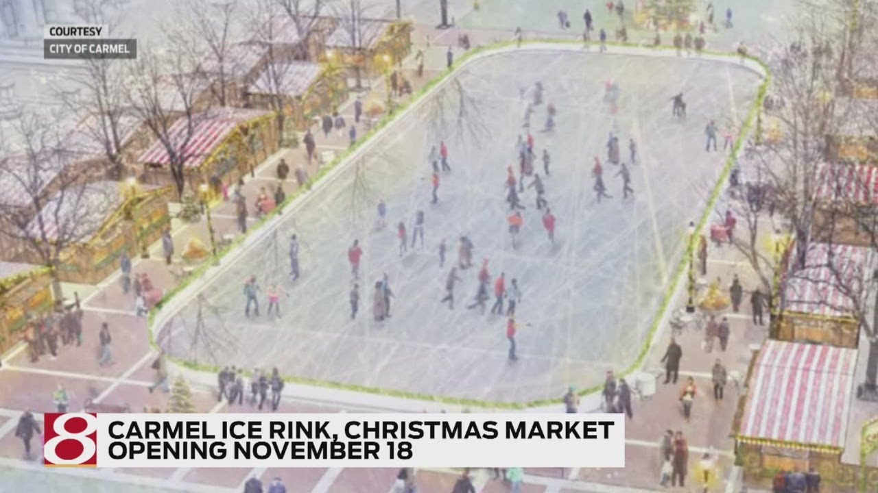 Carmel ice rink, Christmas market to open - YouTube