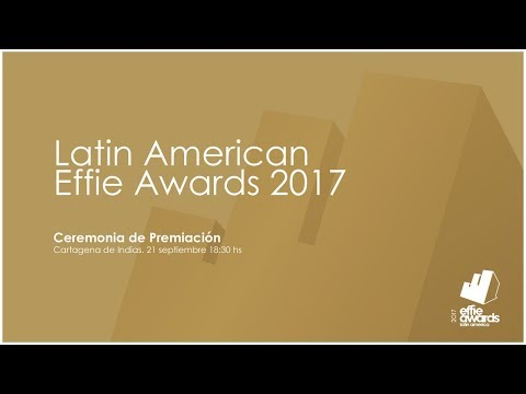 Ceremonia Latin American Effie 2017