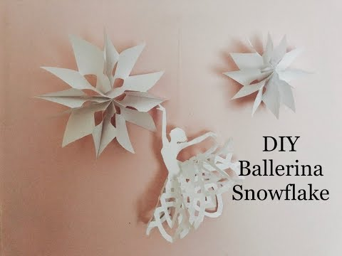 How to make a Paper snowflake ballerina DIY, easy Christmas Decorations Crafts