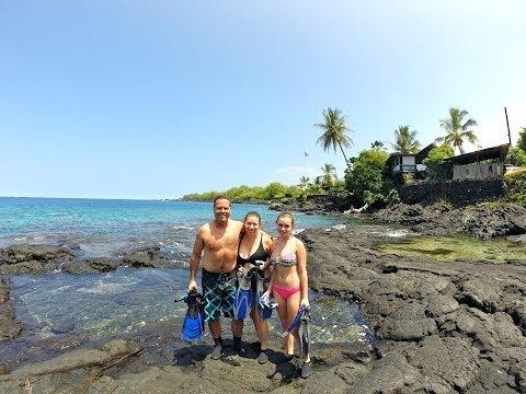 Snorkeling Honaunau Bay (Two-steps), Hawaii's Big Island