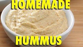 Homemade Hummus - Salt Free, Oil Free, Cheap & Easy