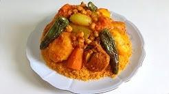 Couscous tunisien au poulet -  كسكسي تونسي بالدجاج