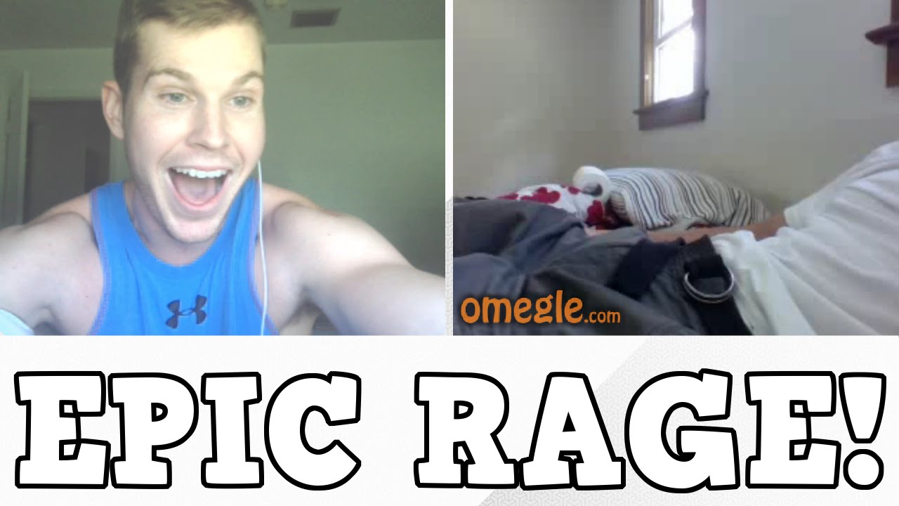 GUY JACKING OFF RAGES ON OMEGLE