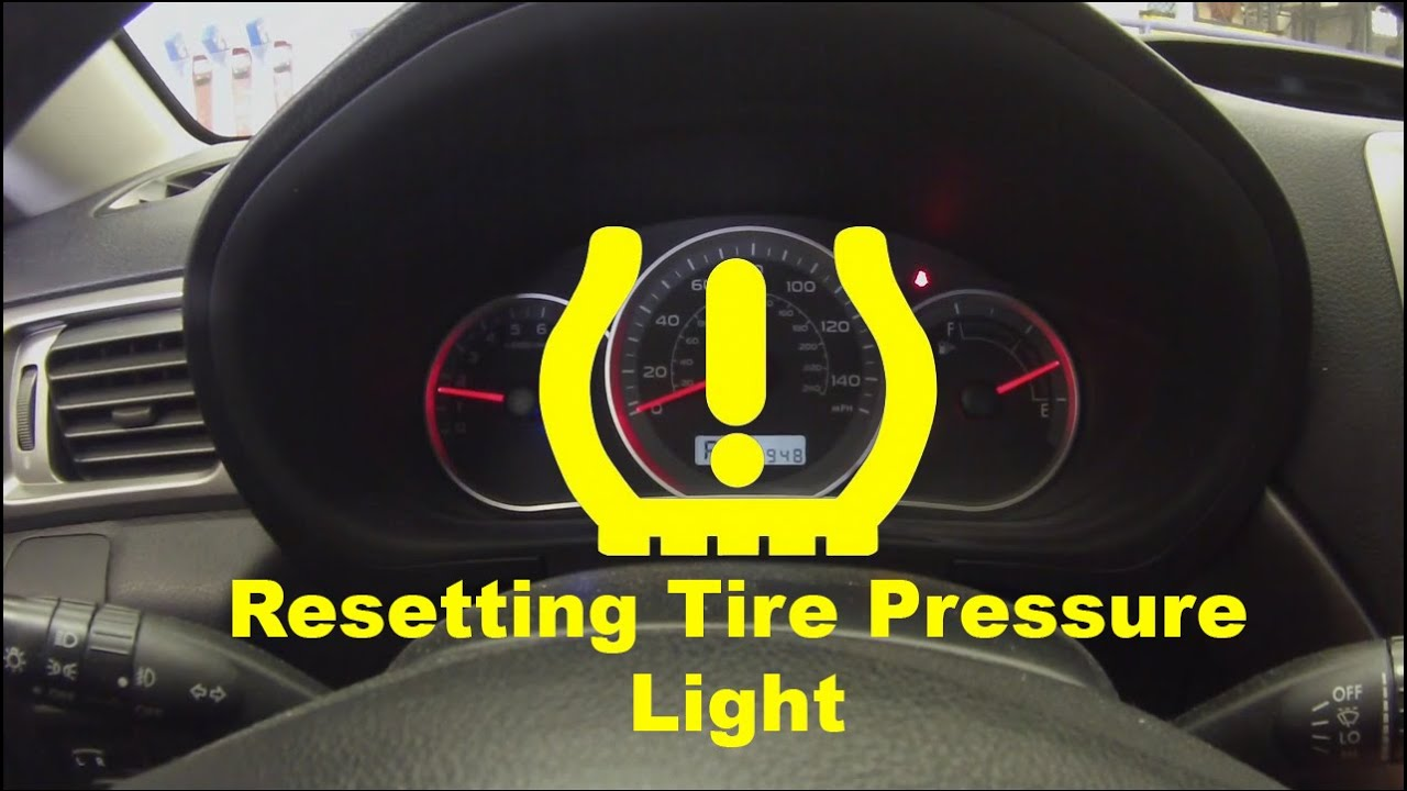 Resetting Low Tire Pressure Light - YouTube