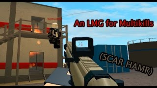 Roblox Phantom Forces - An LMG for Multikills (SCAR HAMR)