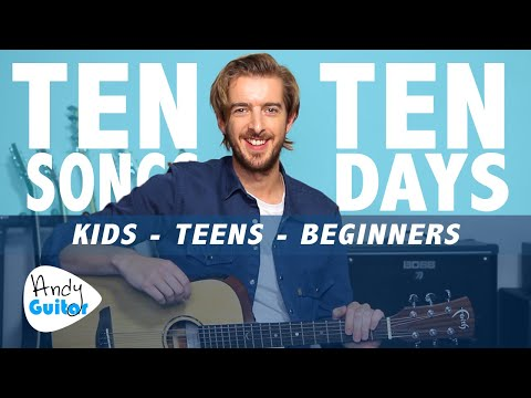Guitar Lesson 5 for Kids // LEARN 10 SONGS IN 10 DAYS
