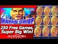 Mayan Chief Slot - 250 Free Games, Super Big Win, First-Spin Bonus!