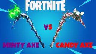 MINTY AXE VS. CANDY AXE!!