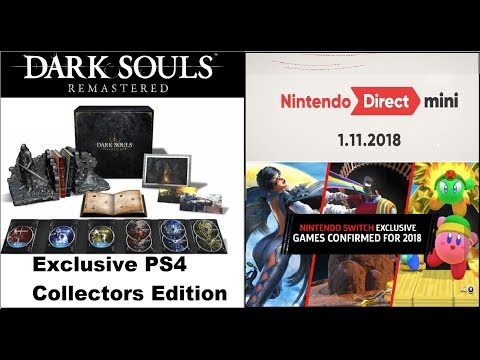 Dark Souls Remastered Confirmed For Switch PS4, PC, Xbox One. Nintendo Direct Mini 1.11.2018