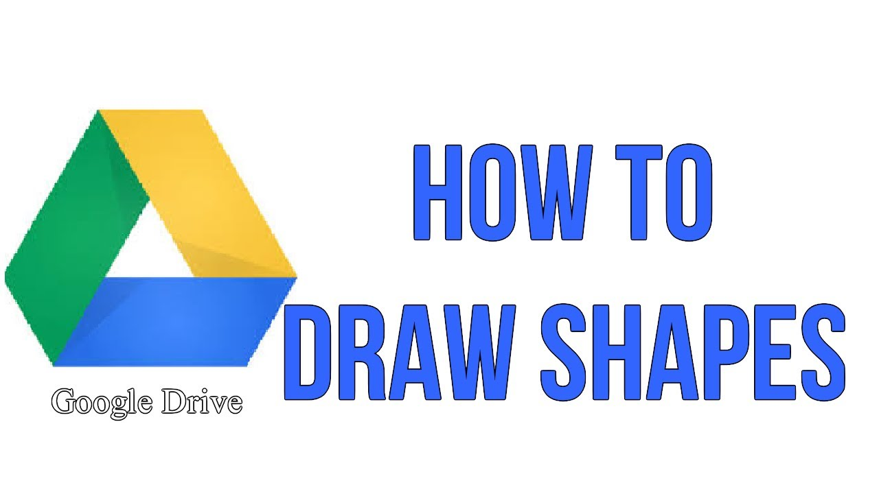 how to draw shapes in your google text document youtube