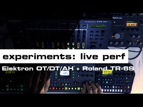 [ House Music   Octatrack MK2 + Roland TR-8S ] Tony Mendoza (superbadmofo) - Live PA Rig Test